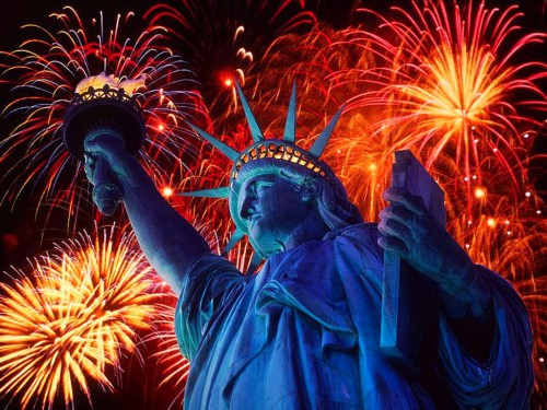 Statue of Liberty Firework