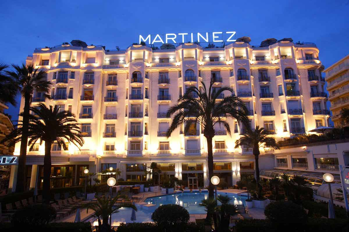 The Martinez Hotel in Cannes
