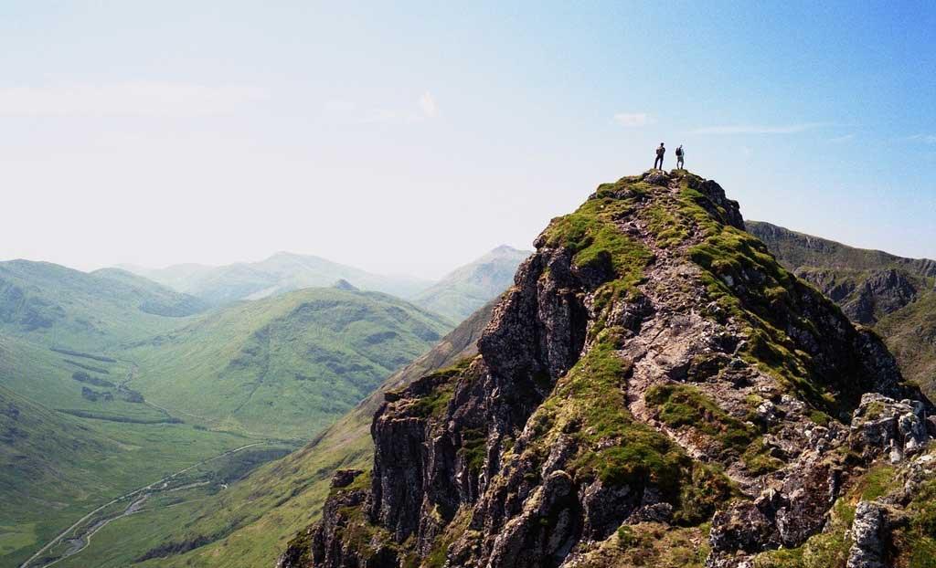 Aonach Eagach Ridge in Scotland