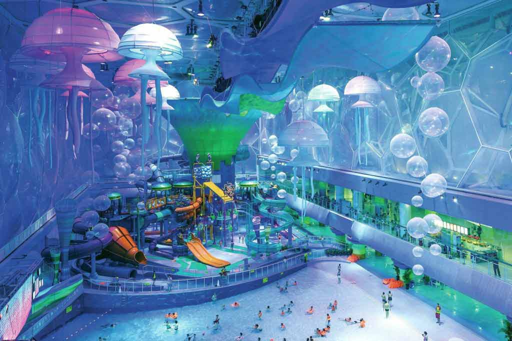 Watercube Water park Beijing in China