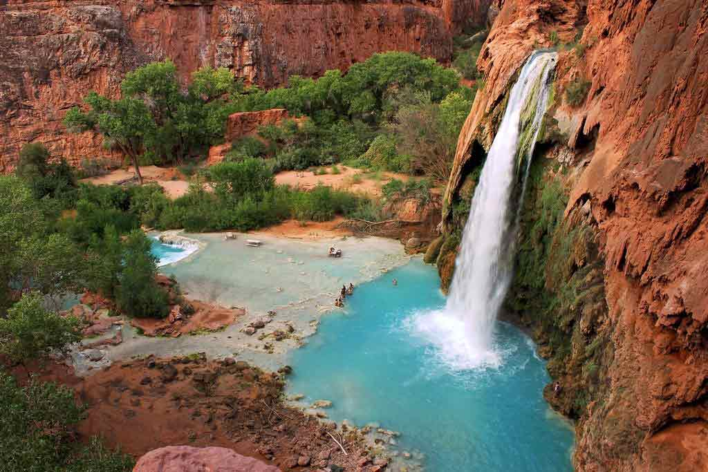 Havasu falls arizona usa 10 most beautiful natural for Natural pools arizona