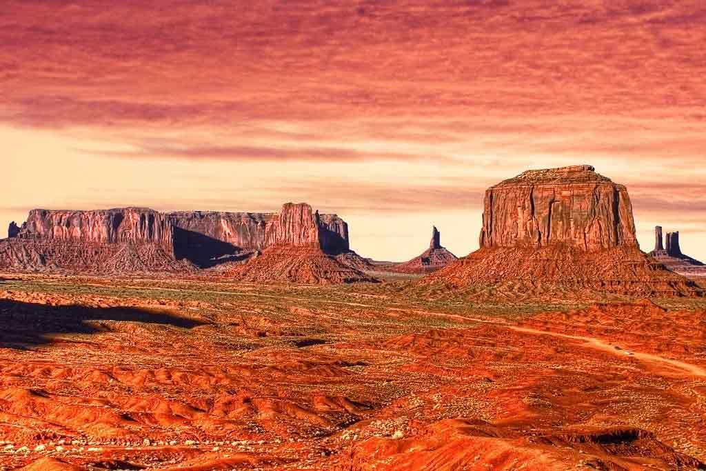 The Monument Valley arizona