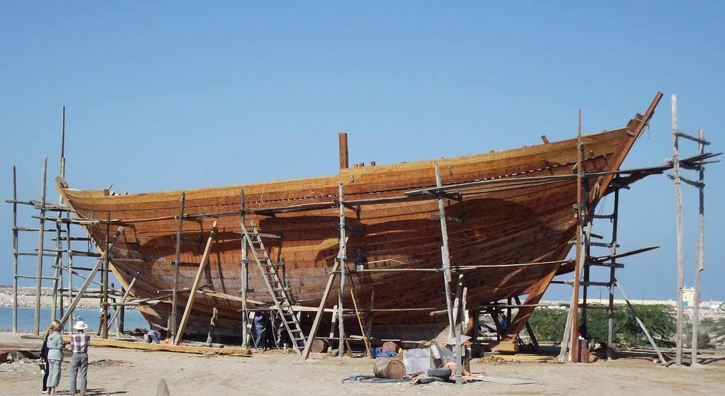 Dhow building yard of Ajman