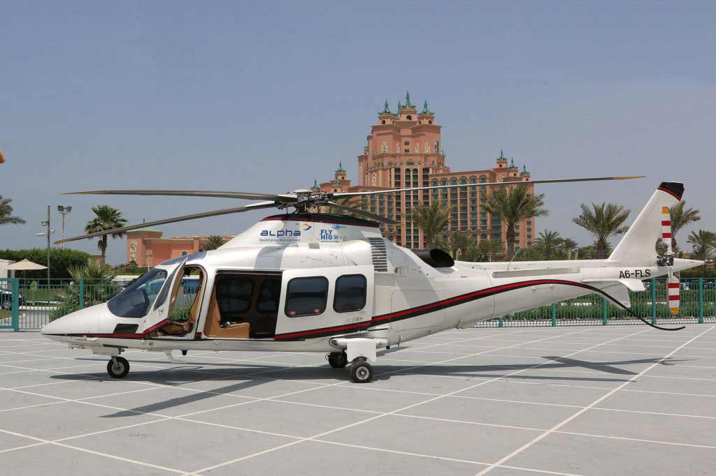 helicopter rides Atlantis the palm