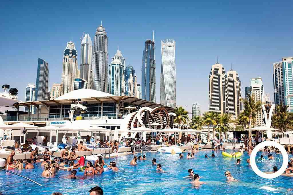 Zero Gravity Beach Club in Dubai
