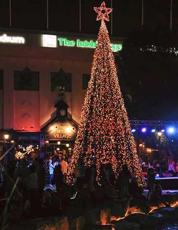Irish Village Christmas Tree Lighting