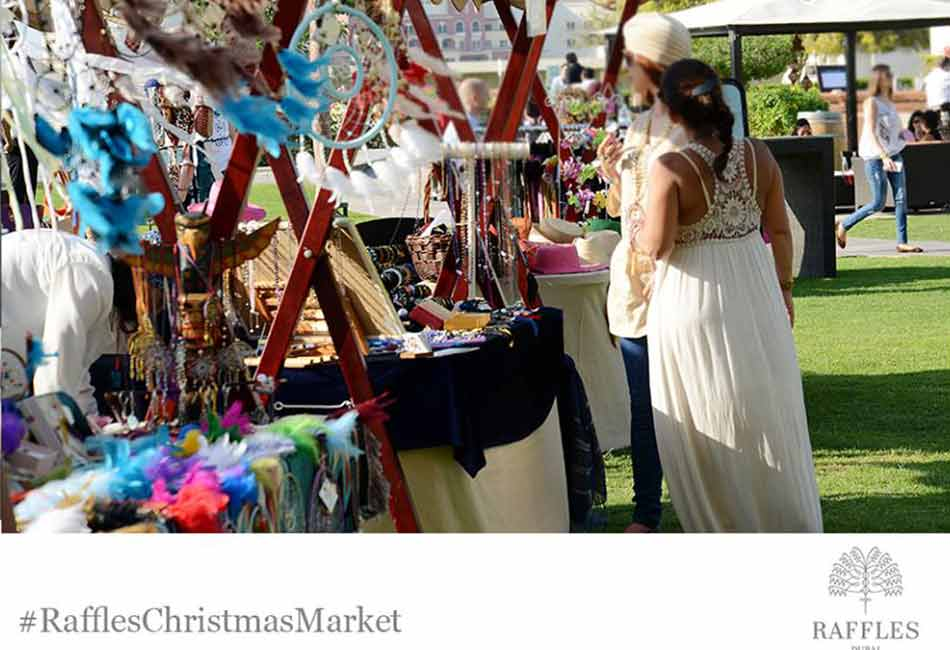 Outdoor Christmas Market at Raffles Dubai