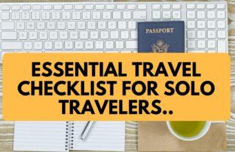Essential Travel Checklist