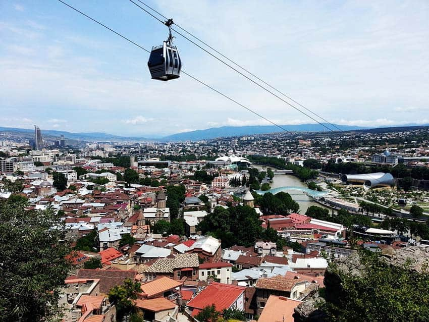 Cable Car Ride Tbilisi