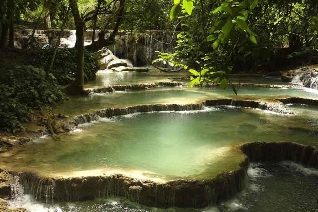 Tat Kuang Si Waterfall laos