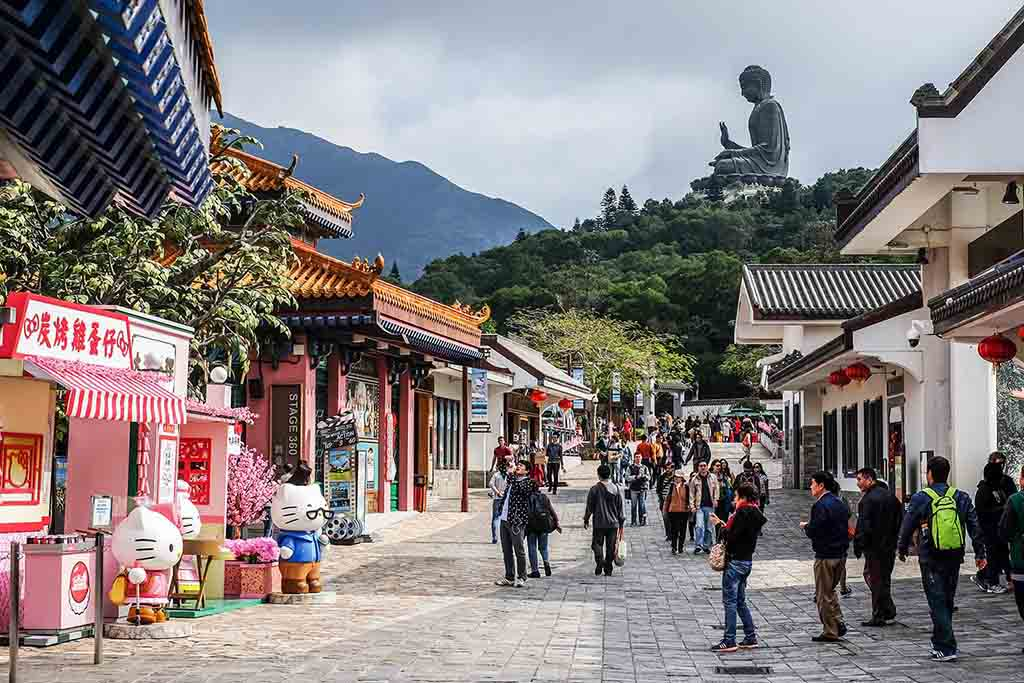 Big buddha Temple Hong Kong