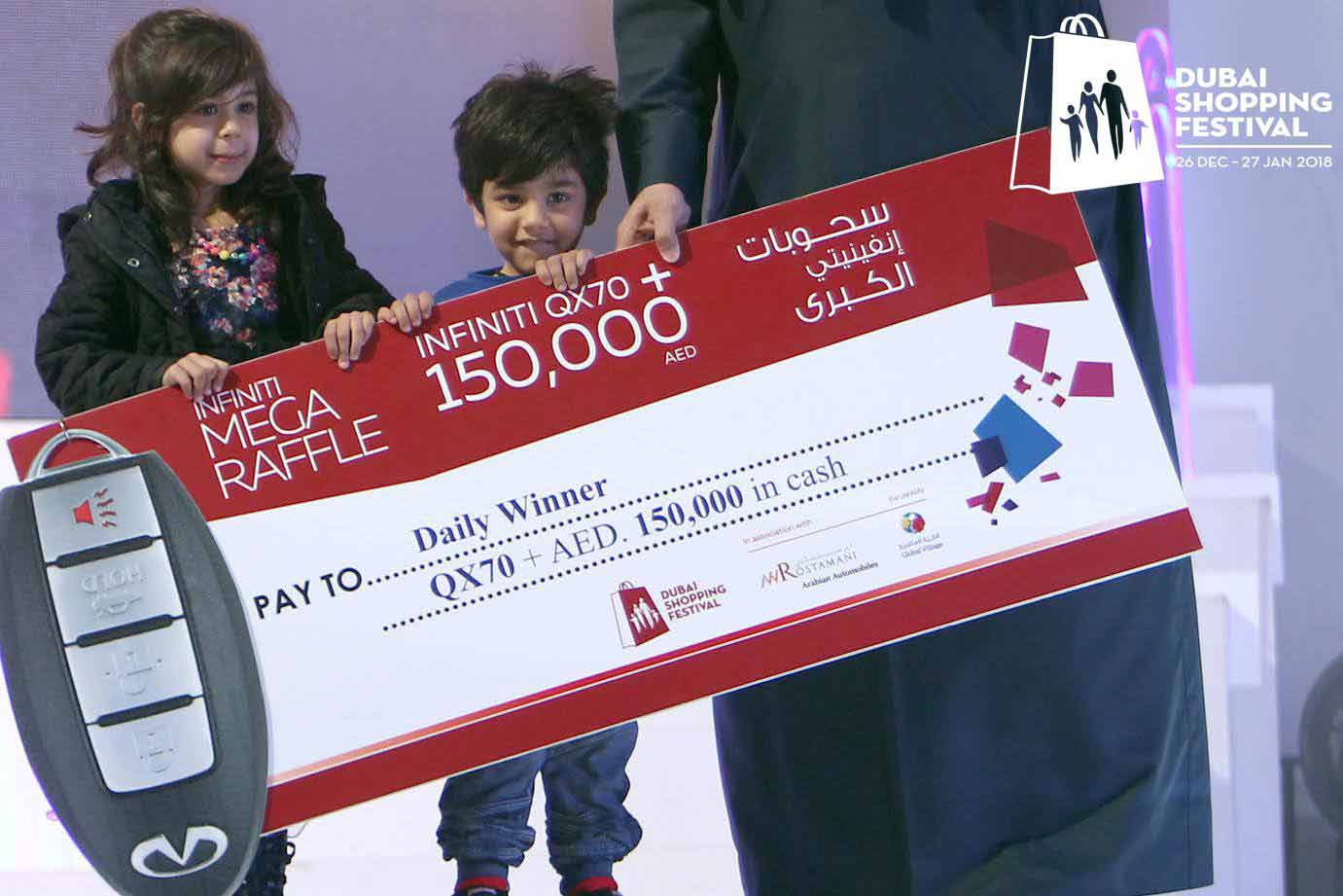 Mega Raffles in Dubai Shopping Festival