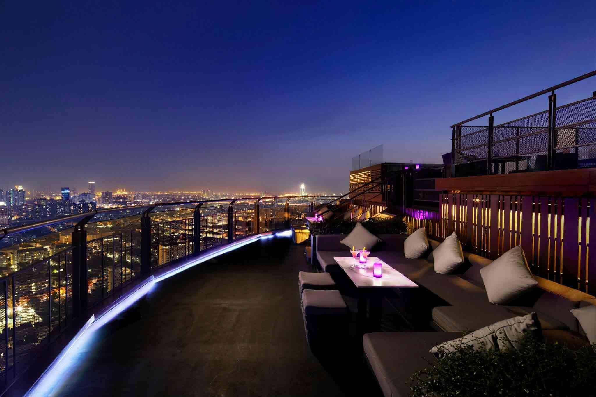 Rooftop Sunset Cocktail Bangkok