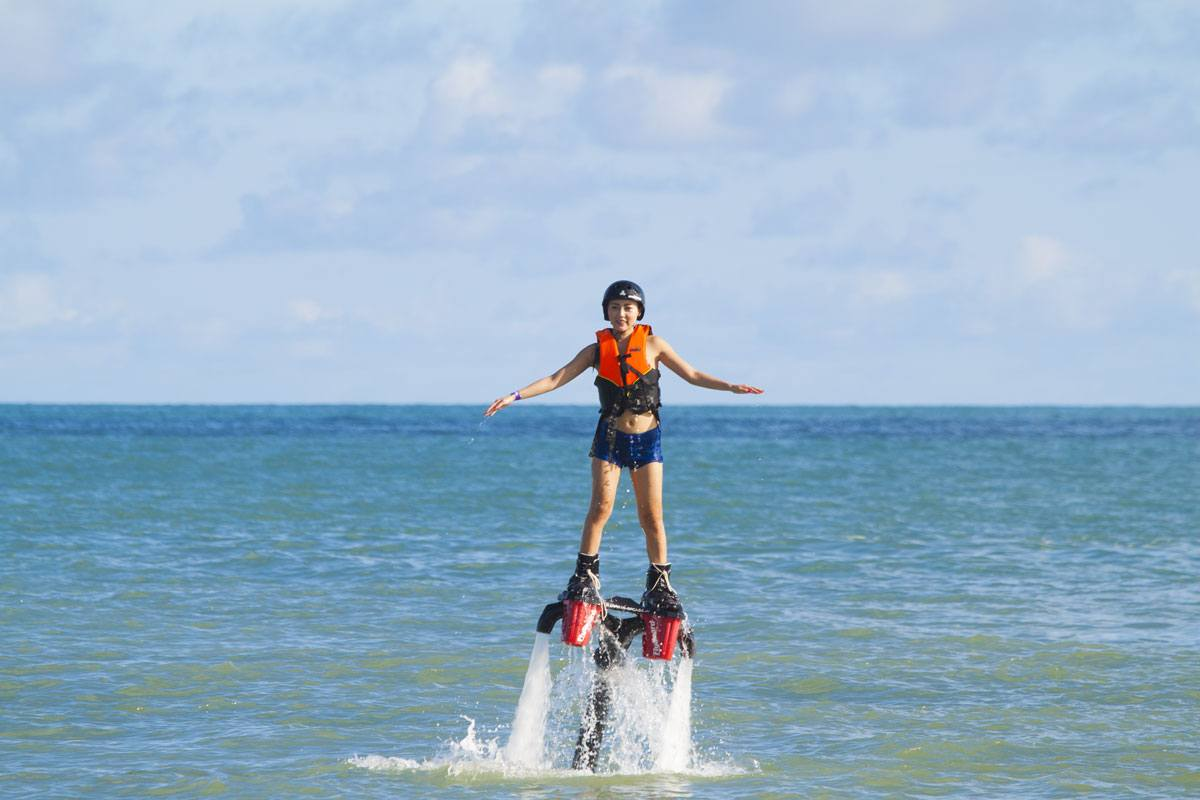 fly boarding Chaweng Beach